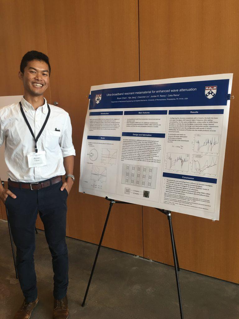 Bryan Chem PhD,  Mechanical Engineering and Applied Mechanics    Ultra-broadband resonant metamaterial for enhanced wave attenuation