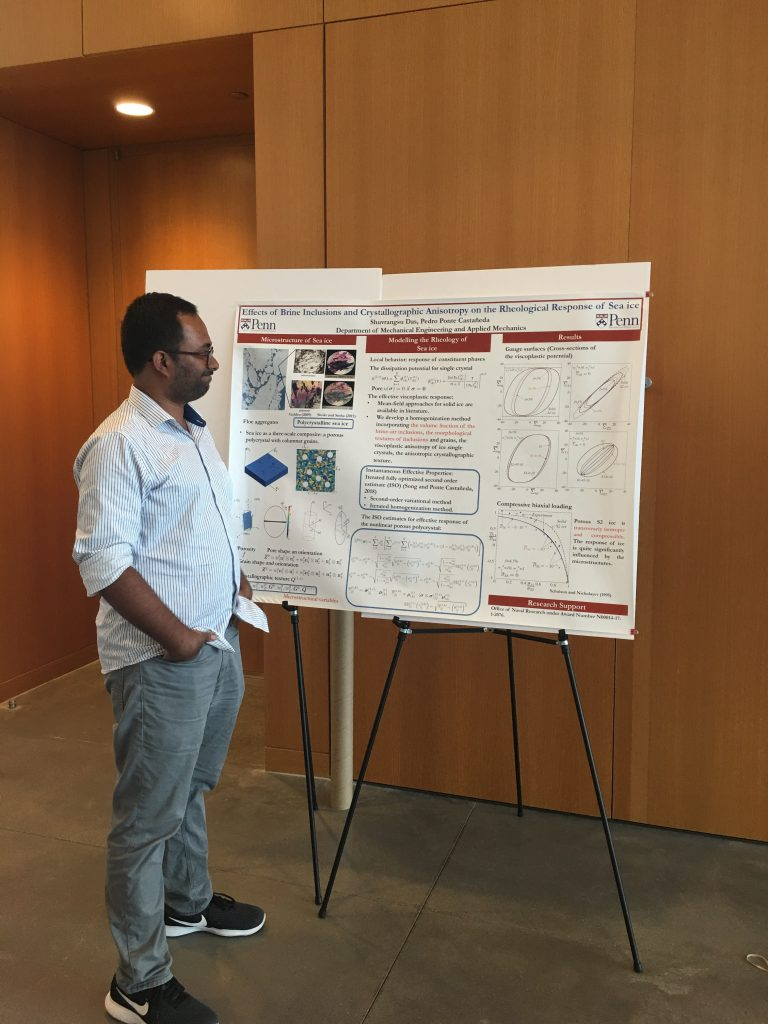 Shuvrangsu Das PhD,  Mechanical Engineering and Applied Mechanics   Effects of brine inclusions and crystallographic anisotropy on the rheological response of sea ice
